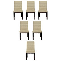 Mid-Century Modern John Widdicomb Set of 6 Parson Wood Dining Side Chairs, 1950s