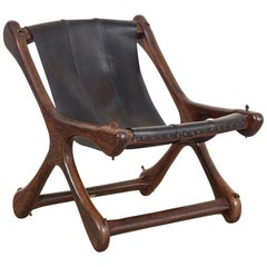 Midcentury Mexican Modern Don Shoemaker Senal Rosewood and Leather Sling Chair