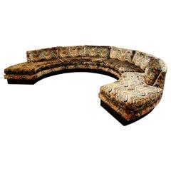 Mid-Century Modern Circular Sectional Sofa on Plinth by Lambeth Lenor Larsen