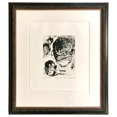 """Louisa Chase """"Baby Head"""" Signed Etching, 1997"""
