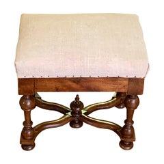 Single Upholstered Footstool, France, 19th Century