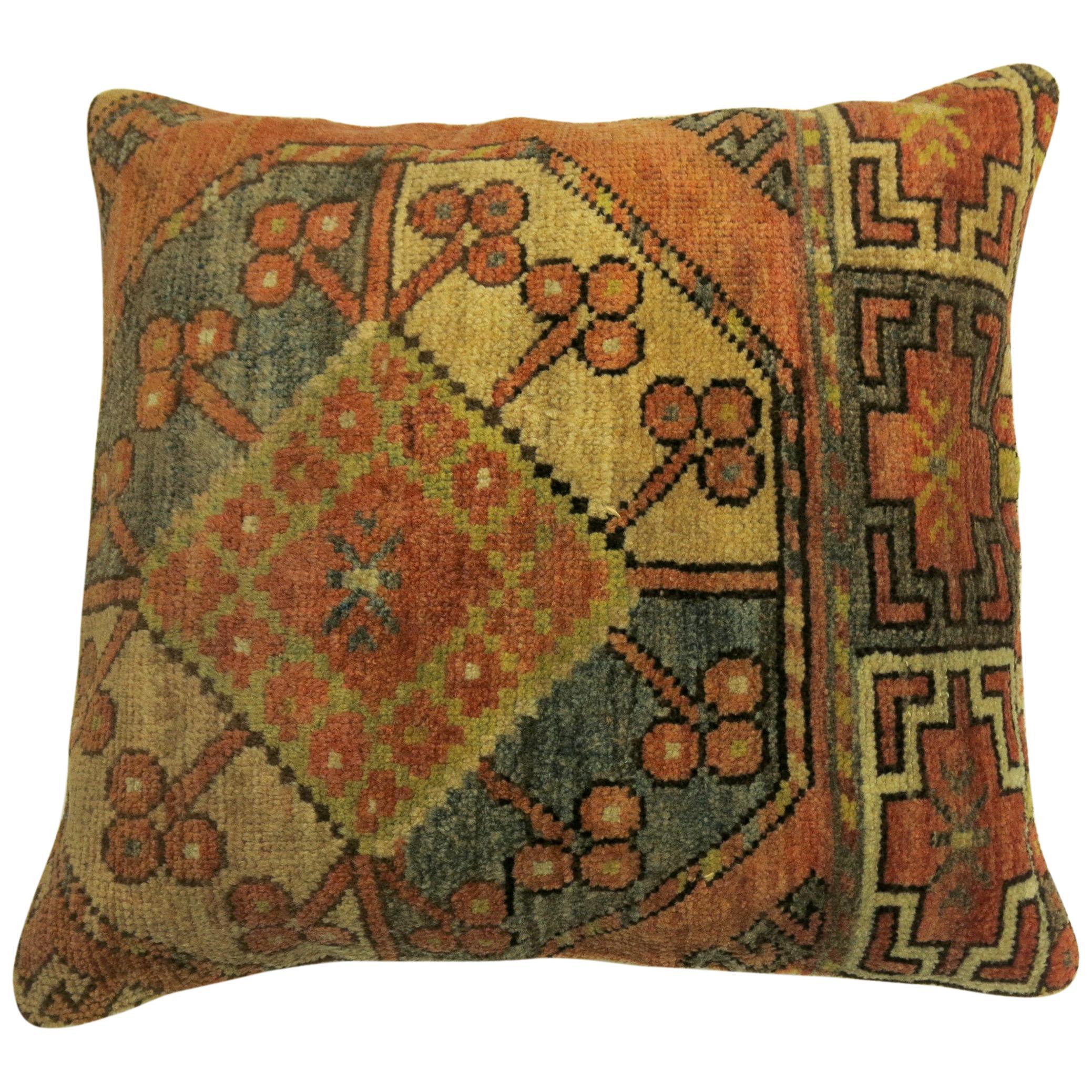 Tribal Ersari Rug Pillow