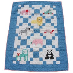 Vintage Applique Crib Quilt