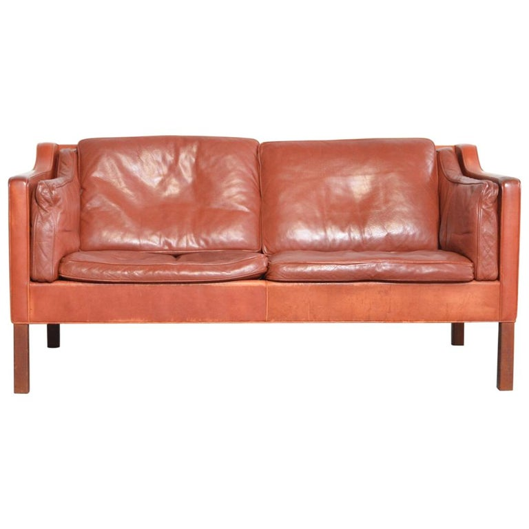 Borge Mogensen two-seat Sofa Model 2212 for Fredericia Danmark For Sale