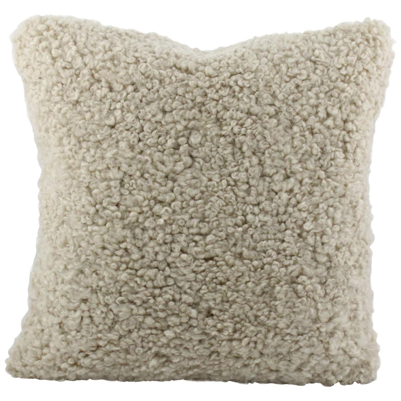 Australian Sheepskin Shearling Pillow Cushion 40x40cm
