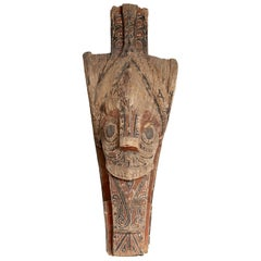 Large Hand Carved Singa Singa Tribal Carving from the Batak People, Sumatra