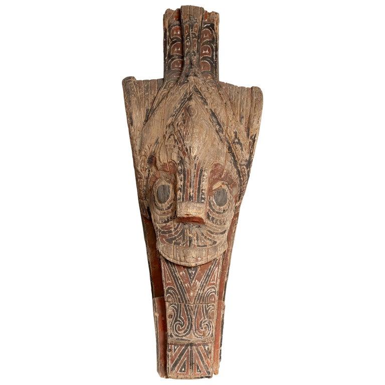 Large Hand Carved Singa Singa Tribal Carving from the Batak People, Sumatra For Sale
