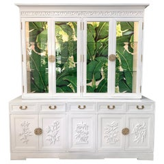 Asian Chinoiserie China Cabinet by Ricardo Lynn