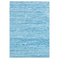 AVO, Wave Woven Leather Rug, Hand-Dyed Leather