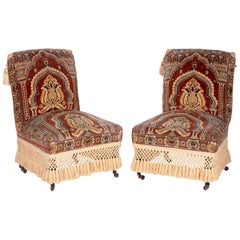 19th Century Pair of Turkish Upholstered Seats