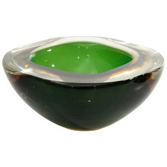 Italian Murano Sommerso Glass Bowl, 1950s