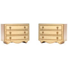 Pair of Dorothy Draper Viennese Collection Chests, circa 1963