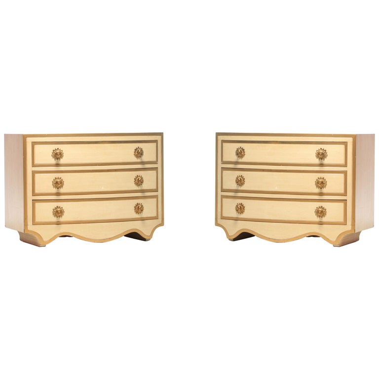 Pair of Dorothy Draper Viennese Collection Chests, circa 1963 For Sale