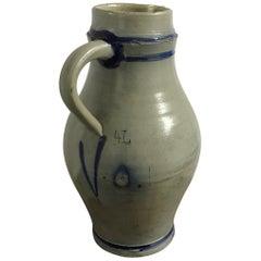 Stoneware Jar 4 Liter Flemisch Gray and Blue