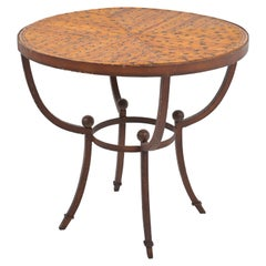 French Art Deco Rustic Side Table, 1920
