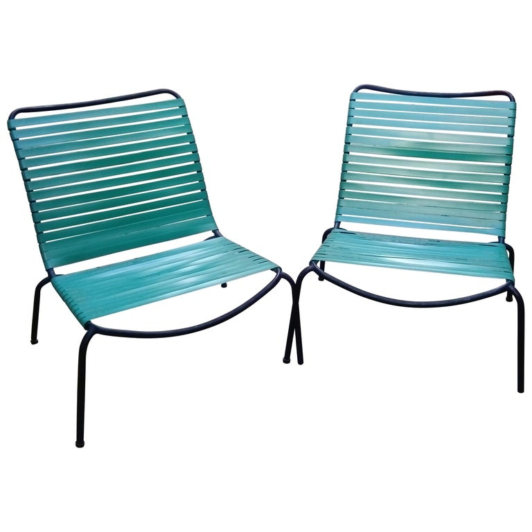 Pair of Armchairs André Monpoix For Sale