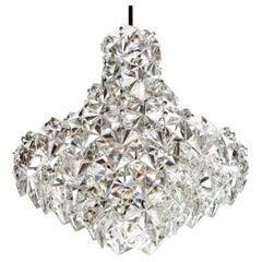 Large Nine-Tier Hexagonal Crystal Kinkeldey Ballroom Chandelier, Germany, 1960s