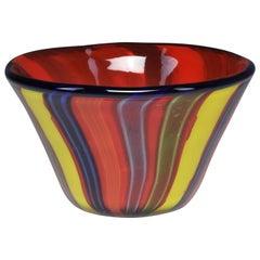 Italian Midcentury Murano Glass Bowl, 1950s
