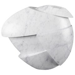 Vase Sculpture White Carrara Marble Contemporary Italian Design