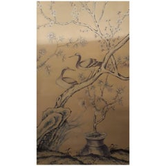"De Gournay Wallpaper Del 1976 ""Earlham"", Chinoiserie, Sequence of 12 Panels"