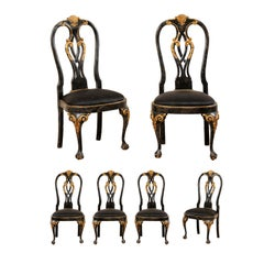 Set of 6 Portuguese Style Dining Side Chairs