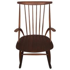 """Gyngestol No. 3"" Rocking Chair by Illum Wikkelsø for Niels Eilersen, 1950s"