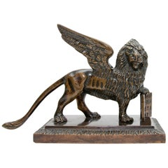 Bronze Sculpture the Lion of Venice