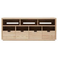 Dovetail Vinyl Storage Cabinet 4 x 1.5 with Equipment Shelf