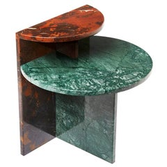 """Cafe"" Marble Side Table by Noemi Saga Atelier, Brazilian Contemporary Design"