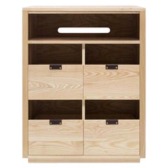 Dovetail Vinyl Storage Cabinet 2 x 2.5 with Equipment Shelf