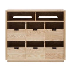 Dovetail Vinyl Storage Cabinet 3 x 2.5 with Equipment Shelf