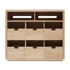 Dovetail Vinyl Storage Cabinet 3 x 2.5 with Equipment Shelf