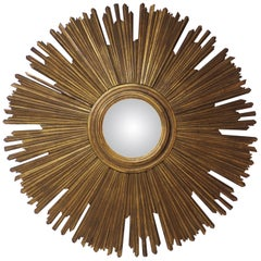 Gilt Sunburst Convex Mirror