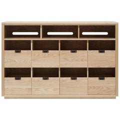 Dovetail Vinyl Storage Cabinet 4 x 2.5 with Equipment Shelf
