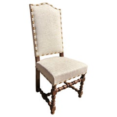 Set of Eight Off White Louis XIV Style French Provincial Dining Chairs