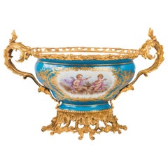 Sevres Style Porcelain Jardinerie, 19th Century