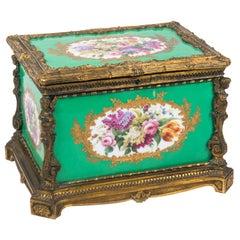 19th Century Sevres Style Porcelain Casket