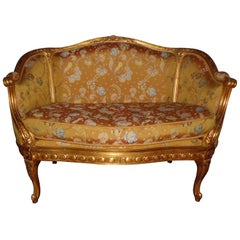 """Two-Seat Sofa """"Transition"""", End 19th Century, Italy"""