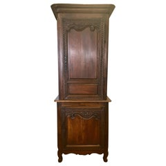 Exceptional Carved French Cabinet Armoire Early 19th Century Wardrobe