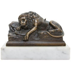 The Lion of Lucerne Grand Tour Bronze Sculpture