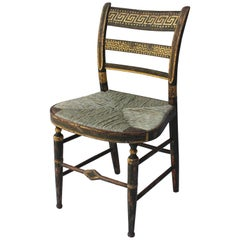19th Century Gilt and Painted Side Chair