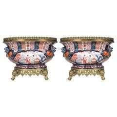 Pair of 19th Century Japanese Style Samson Imari Jardinières