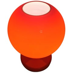 Red Glass Table Lamp by Stepan Tabera, 1960s