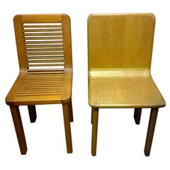 Pair of Chairs Architect Angiolo Mazzoni