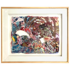 "Sam Gilliam Mixed-Media Collage ""Manet"" 1998"