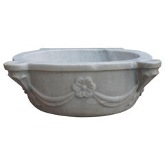 Antique White Marble Sink