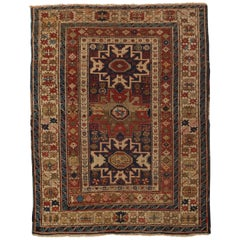 Antique Caucasian Lesghi Star Rug, circa 1880