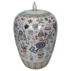 Large Antique Chinese Export Porcelain Ginger Jar