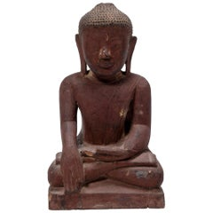 17th Century Burmese Seated Shan Buddha