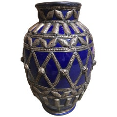 Large Blue Moroccan Pot